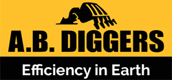 AB Diggers | Excavation & Earthmoving Logo